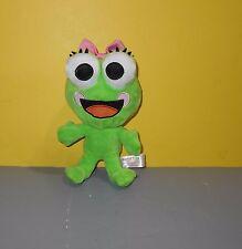"Sweet Frog Frozen Yogurt Promo Plush Stuffed 8"" Girl Frog in Pink Bow"