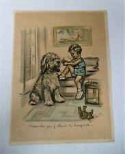 Gravure originale Germaine Bouret: