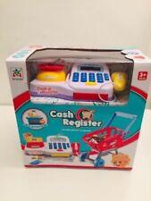 Children's Cash Register Till & Shopping Trolley Kids Role Play Toy Set