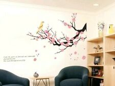 Cherry Blossom Branch Wall Decal Bird 3D Stickers Removable Mural Art Quote