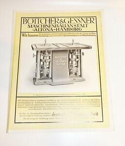 Publicité Prospectus Tonnelier & Gessner Génie Mécanique Altona Scie CNC (D8