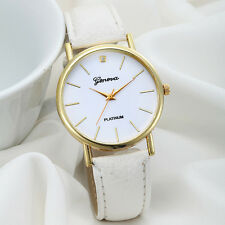 Dress Watch Women Ladies QuartzSimple Casual Faux Leather Wrist Watch New