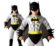 Child BATMAN TOTAL ARMOUR Muscle Chest Fancy Dress Costume Boys Halloween Silver