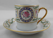 Haviland Limoges LOUVECIENNES demitasse coffee cup and saucer UNUSED