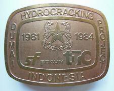 COPPER BELT BUCKLE, SF BRAUN DUMAI HYDROCRACKING PROJECT INDONESIA 1981-1984