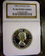 Canada 1962 50c Silver Half Dollar PL66 ULTRA CAMEO NGC High Grade Beauty!