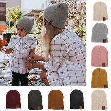 Mom&Me Warm Family Matching Newborn Baby Kids Knited Headgear Beanie Hat VT