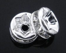 5mm CLEAR Rhinestone Crystal Spacer Rondelle Beads 10 pieces bme0022