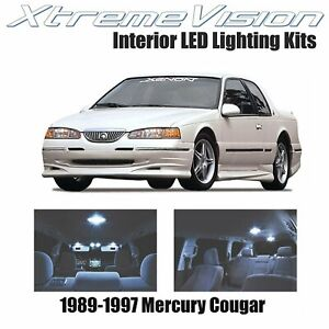 XtremeVision LED for Mercury Cougar 1989-1997 (7 Pieces) Cool White Premium Inte