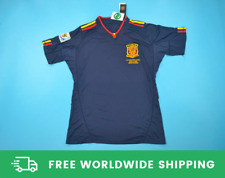 España 2010 Copa del Mundo final Corto-SL. Jersey Camisa Iniesta Xavi Villa Tallas S-XXL