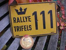 ISCC FRANKFURT - SPORTS CAR CLUB RALLYE TRIFELS 1954 Badge SET !!