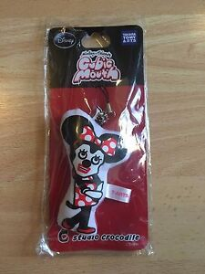 New Tags Disney Minnie Mouse Mobile Phone Charm Lanyard Strap Cubic Mouth Japan