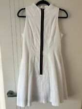 Cue Dress Size 10 Amazing Style White With Black Piping