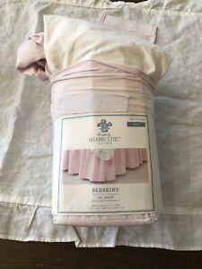 Simply Shabby Chic Pink Ruffle Bedskirt Full NEW Rachel Ashwell