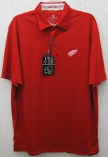 Detroit Red Wings NHL Hockey Men's Performance Polo Team Shirt Red Large New