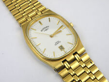 Vintage Gold Plated Men's Rotary 3730 Date Dial Slim Watch