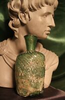 TIME OF CHRIST JESUS, LARGE HEAVY ANCIENT ROMAN GLASS BOTTLE CIRCA 100 BC-300 AD