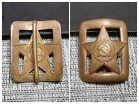Russian Officer Belt Buckle Star WW2 WWII Original