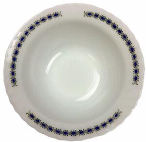 Vintage Indopal Arcopal Milk Glass Large Fluted Serving Bowl 27cm Wide