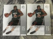 2011-12 UD SP Authentic Kawhi Leonard Rookie Card - Mint  2 Cards Lot