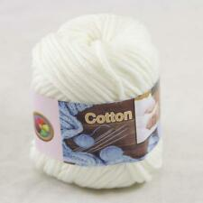 1Ball  50g Special Thick Worsted 100% Cotton Hand Knitting Yarn Pearl White 21