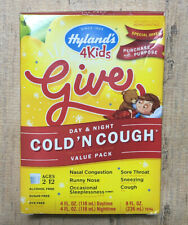 Hyland's 4 Kids COLD 'N COUGH Day & Night VALUE PACK 8oz. Homeopathic NATURAL