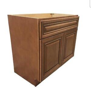 "New Maple Walnut Single Bathroom Vanity Base Cabinet 36"" W x 21"" D x 33""H"