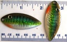 100 Matzuo MBW44 Perch Size 4 Spinner Willow Blades With Realistic Eyes