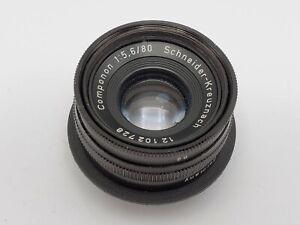 Schneider Kreuznach Componon 80mm F5.6 Enlarging Lens - M39 Rear Thread *READ*
