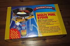 American Camper Single Burner Multi Fuel Camp Portable Stove Propane or Butane