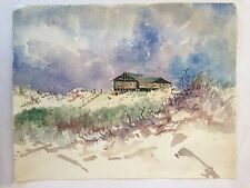 Unsigned 1931 Watercolor ARNOLD N. ANDERSON (b 1893) Maine (?) 13 x 11, Listed 6