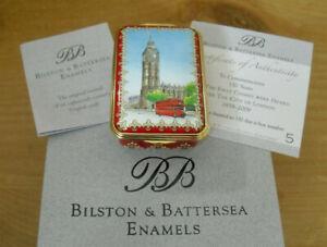 "Boxed Ltd Ed Bilston & Battersea Enamels Big Ben 150th Anniversary Box - >2 1/2"""