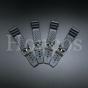 18 20 22 MM Black Silicone Rubber Watch Band Strap For Seiko Diver Hot SKX Soft