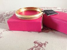 "DEBENHAMS ""BUCKINGHAM"" GOLD TONE HINGED ENAMEL BRACELET - BOXED"