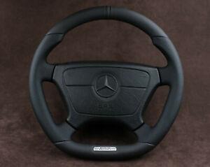 Mercedes Benz OEM Custom Steering Wheel FLAT BOTTOM W140 W124 W202 R170 R230 AMG