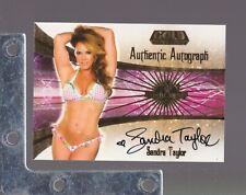 2007 Benchwarmer GOLD EDITION #15 Sandra Taylor AUTOGRAPH PLAYBOY/PLAYMATE