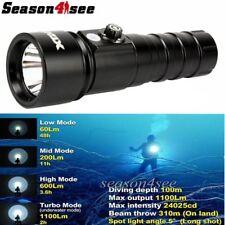 XTAR D26 Whale CREE XM-L2 U3 LED 1100 Lms 18650/18700/26650 Diving Flashlight BK