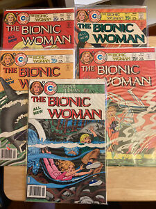 The Bionic Woman # 1-5 complete Charlton 1977-78 series