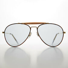Brow Bar Aviator Sunglass with PhotoSun Transition Glass Lens Vintage - Earhart