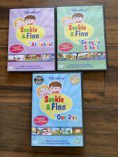 Sookie and Finn DVDs x 3 - Pre-school Toddler Speech Development Educational