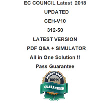 EC-Council CEH v10 Certified Ethical Hacker 312-50 Dump Q&A  Test PDF & Sim
