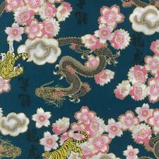 NUTEX FABRIC - 100% Cotton, Japanese metallic fabric - Kobo - Teal (61560-102)