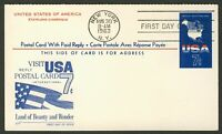 #UY19 7c USA World Vacationland, Fleetwood FDC **ANY 4=FREE SHIPPING**
