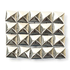 100pcs Metal Square Pyramid Rivet Stud Spots Spikes For Clothes Shoes Bags Decor