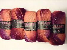 5 x 100g Stylecraft Cabaret D/K lana/filati per maglieria/uncinetto in Aurora