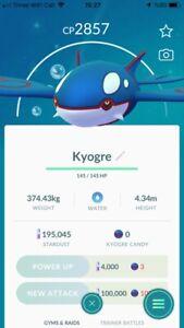 Pokemon Legendary Go  Kyogre Non Shiny Same Day Trade Or 30 Day