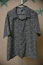 PHYS.SCi Physical Science Apparel Gray Skulls Button Down Shirt Men's size XL