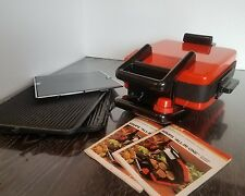 KRUPS Vintage Griddle Electric Grill TYPE 296 All in One Made In Germany