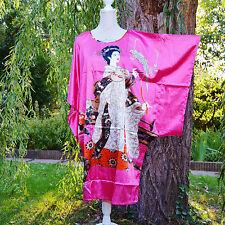 Déshabillé chemise de nuit caftan taille unique 38 ↔️ 50 rose Chinois ZAZA2CATS
