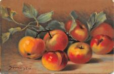 Still Life Painting: Peaches Fruits, Signed